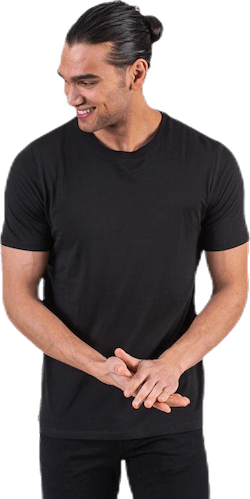 Organic Basic Tee Ss O-Neck Black