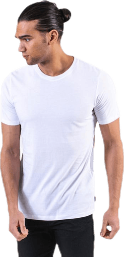 Organic Basic Tee Ss O-Neck White