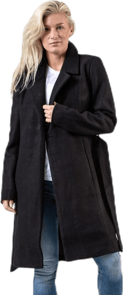 Regina Wool Coat Black