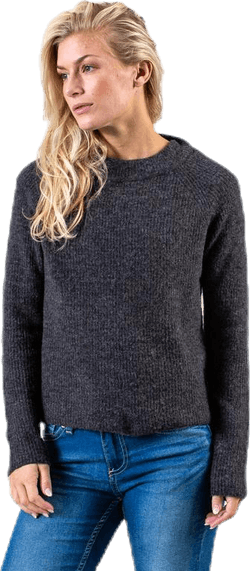 Ellen Ls O-Neck Knit Grey