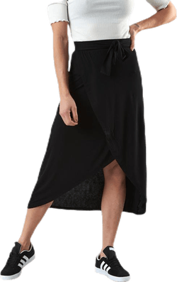 Lonora Hw Midi Wrap Skirt Black