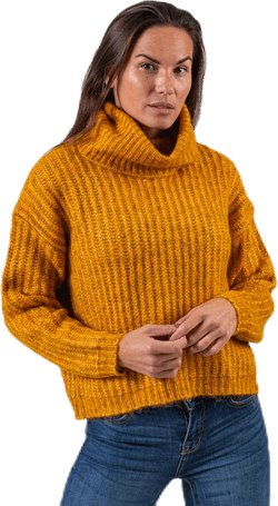 Chunky L/S Rollneck Pullover Yellow