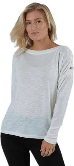 Nollie Ls O-Neck Top White