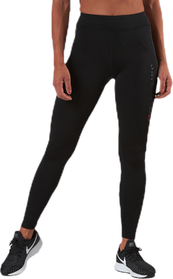 Performance Run Brushed Tights Black