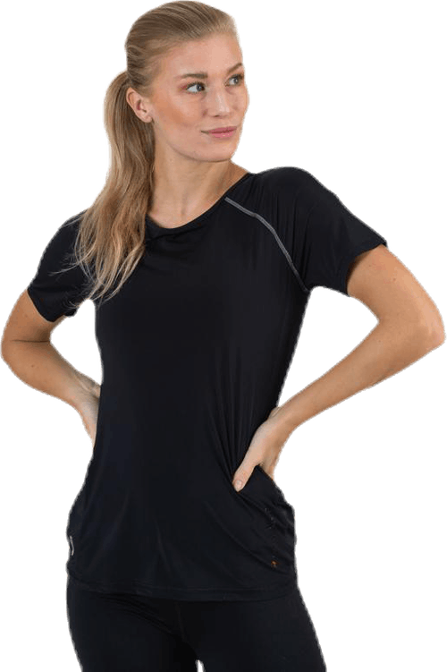 Performance Run  Ss Tee Black
