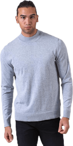 Fast Knit High Neck Grey