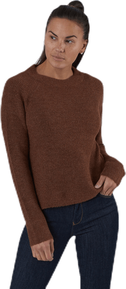 Ellen Ls O-Neck Knit Brown