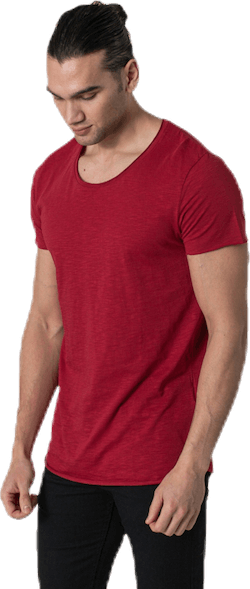 Bas Tee Ss U-Neck Red