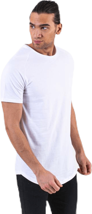 Curved Tee Ss O-Neck White