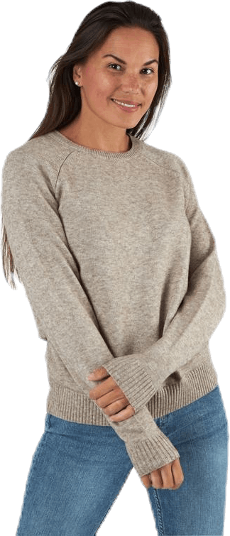 Lesly Kings L/S Pullover Knt Beige