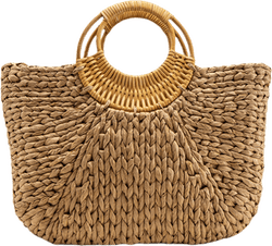 Noomi Straw Bag Beige