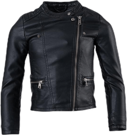 Freya Faux Leather Biker Otw Black