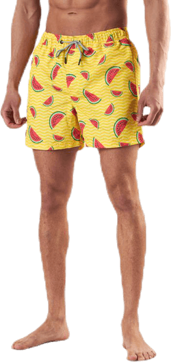 Aruba Swimshorts  Fruits  Yellow