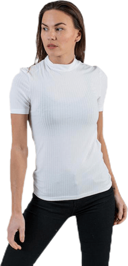 Kylie Ss T-Neck Top  White