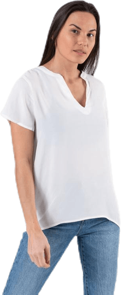 Molly Ss V-Neck White
