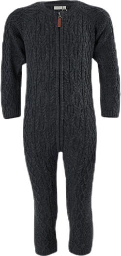 Wrilla Wool Ls Knit Suit Blue