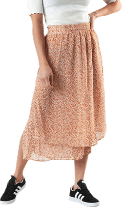 Anabelle Hw Midi Skirt Orange