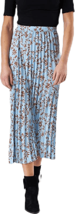 Alma Poly Plisse Skirt Aop Blue