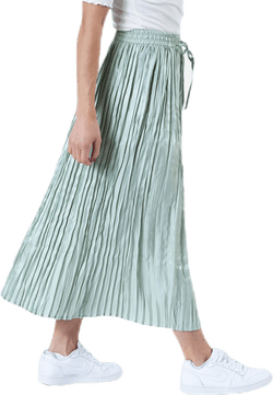 Liva Plisse Skirt Green