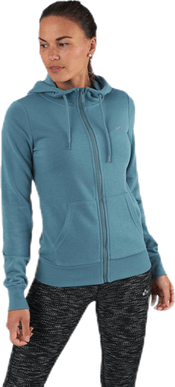Elina Zip Hood Sweat Blue