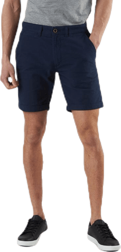 Linen Chino Shorts Blue