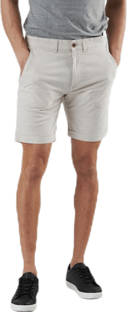 Linen Chino Shorts Grey