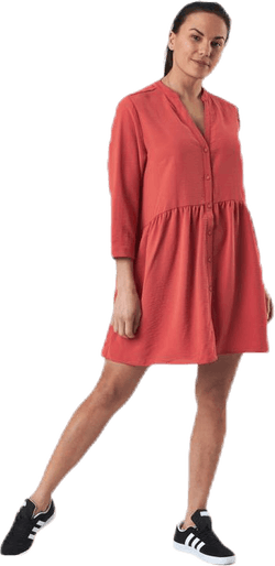 Mette 3/4 Tunic Wvn Red