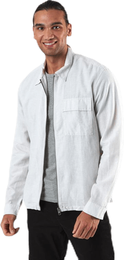 Life Linen Shirt Ls One Pocket White