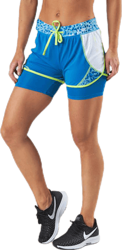 Angilia Life Aop Training Shorts Blue