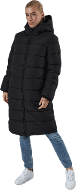 Bee Long Padded Jacket Black