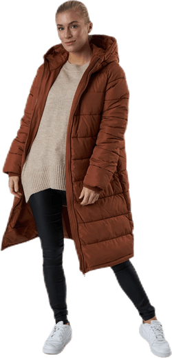 Bee Long Padded Jacket Brown