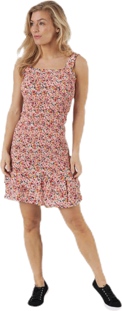 Ayrin Smock Strap Dress Pink