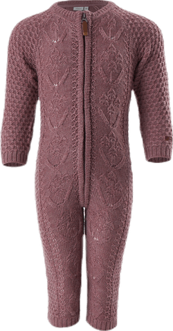 Wrilla Wool Ls Knit Suit Red