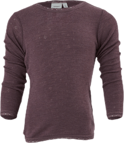 Wang Wool Needle Ls Top Grey