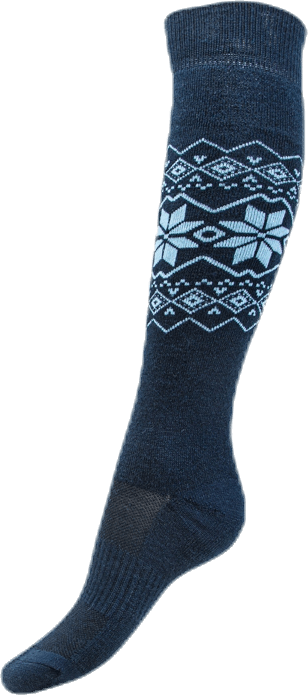 Ossar Wool Jacquard Sock Blue