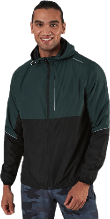 Thorow Running Jacket With Hood Green