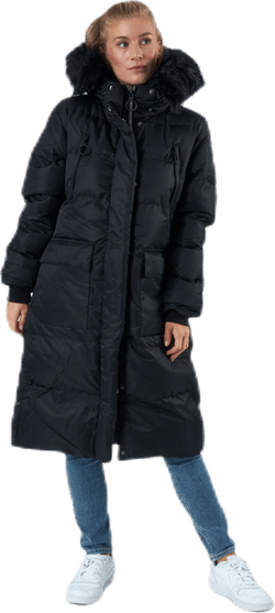Frida Long Puffer Jacket Black