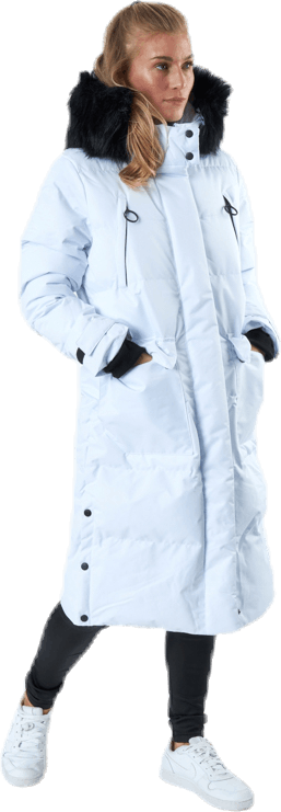 Frida Long Puffer Jacket White