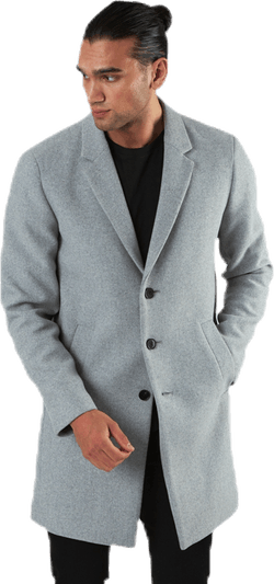 Moulder Wool Coat Grey