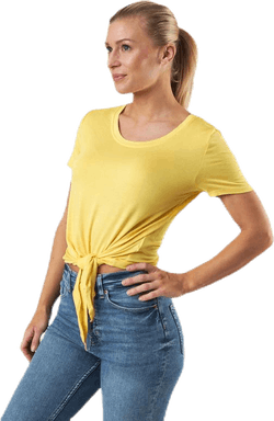 Arli S/S Knot Top Yellow