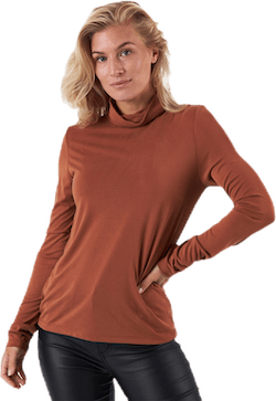 Kamala Ls Rollneck  Top  Brown