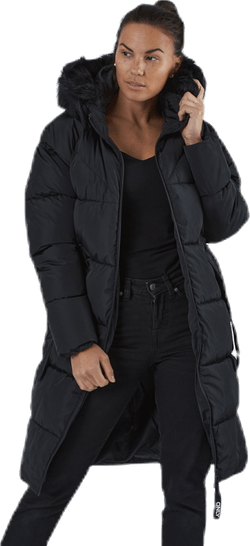 Monica Long Puffer Coat Cc Otw Black
