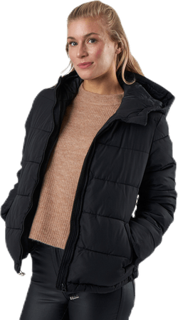 Bee Short Padded Jacket Black