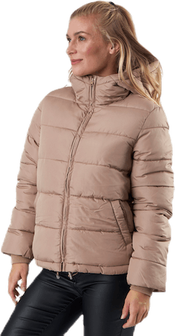 Bee Short Padded Jacket Beige