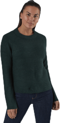 Ellen Ls O-Neck Knit Green