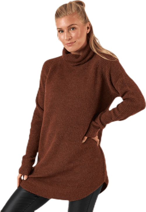 Ellen Ls Long  Knit Brown