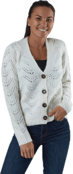 Bibi Ls  Knit Cardigan White