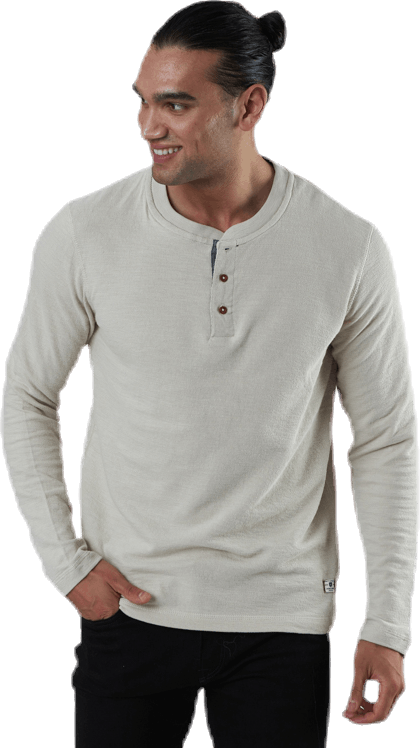 Ray Tee Ls Henley Grey