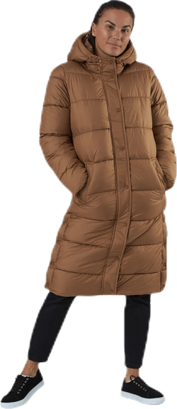 Newcammie Long Quilted Coat Otw Brown