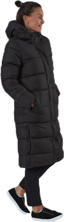 Newcammie Long Quilted Coat Otw Black